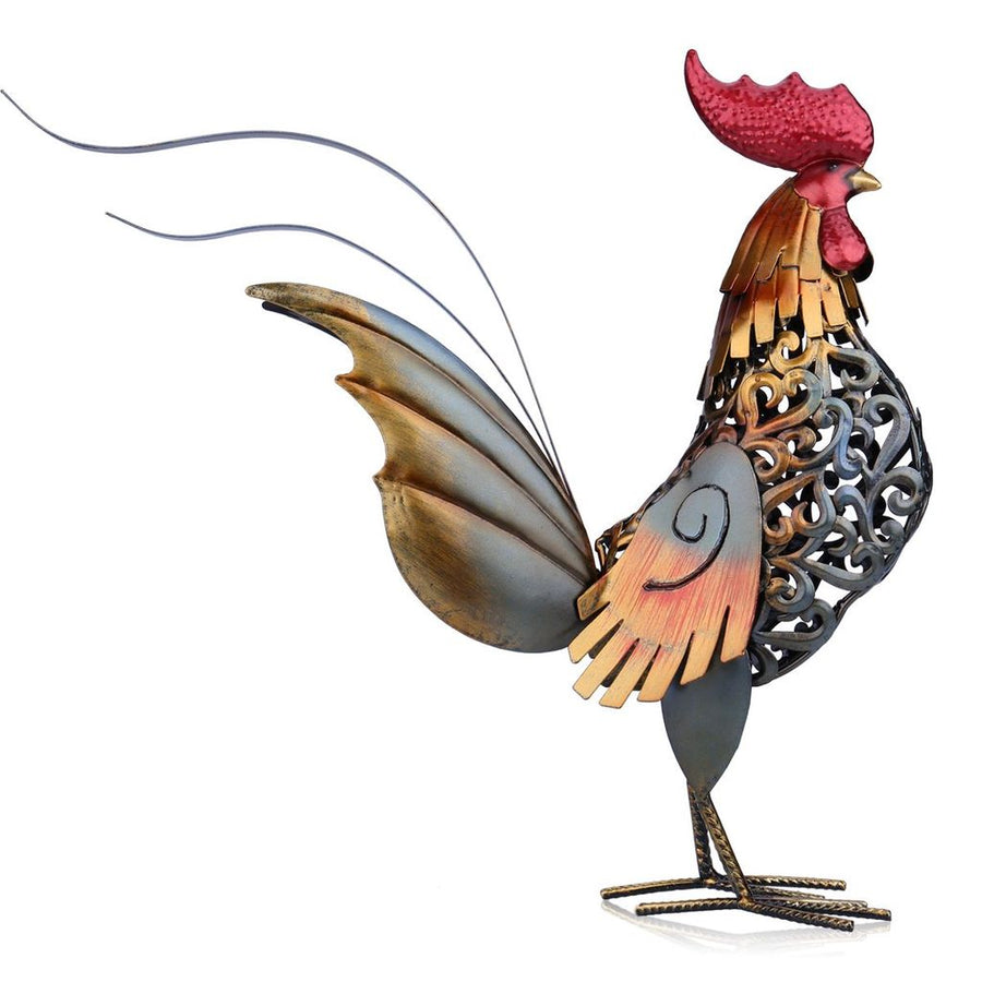 Metal Rooster For Kitchen Decor