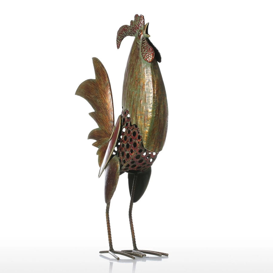 Metal Rooster Statues For Kitchen Decor & Gifts inspired by Christmas