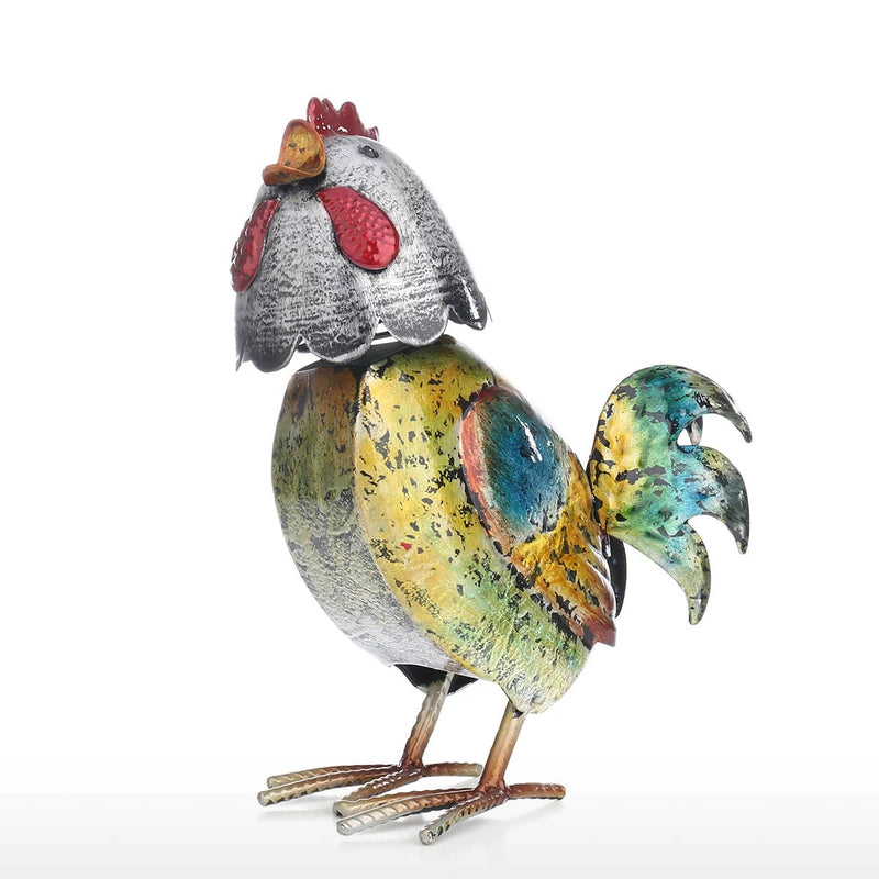 Metal Rooster Statue to Vintage Farmhouse-Rustic, French Country Decor