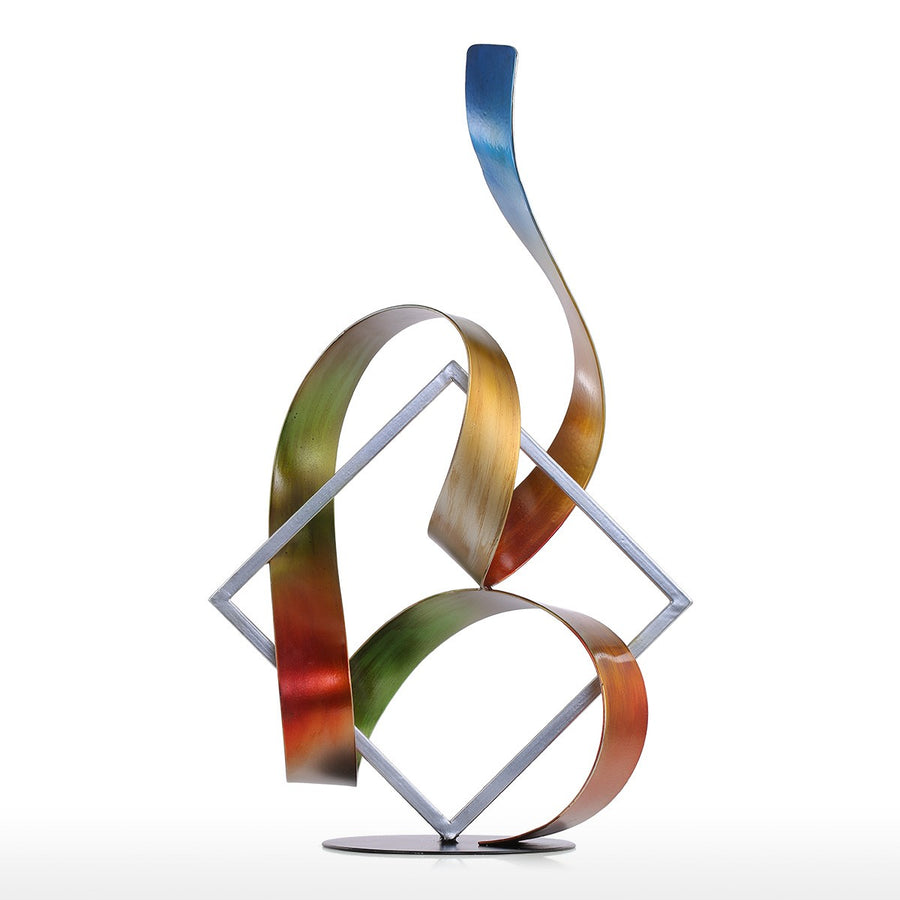 Metal Sculpture and Abstract Art with Metal Sculpture for Christmas Decorations and Home Decor