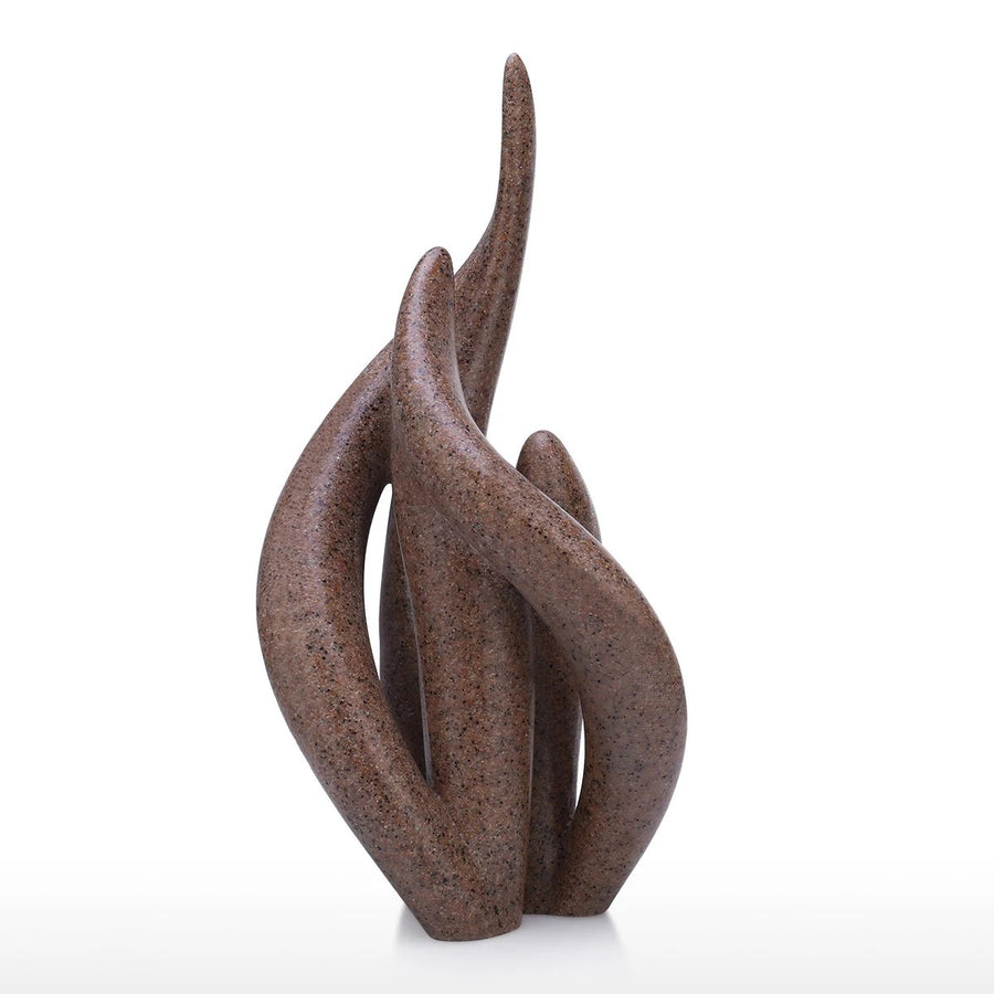 Modern Abstract Figurative Resin Sculpture For Home Accent Decor