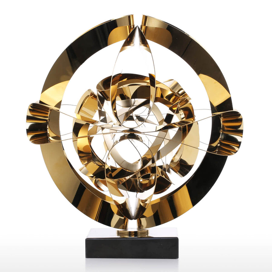Modern Furniture or Modern Living Room Furniture with Steel Gold Sculpture for Christmas Decorations