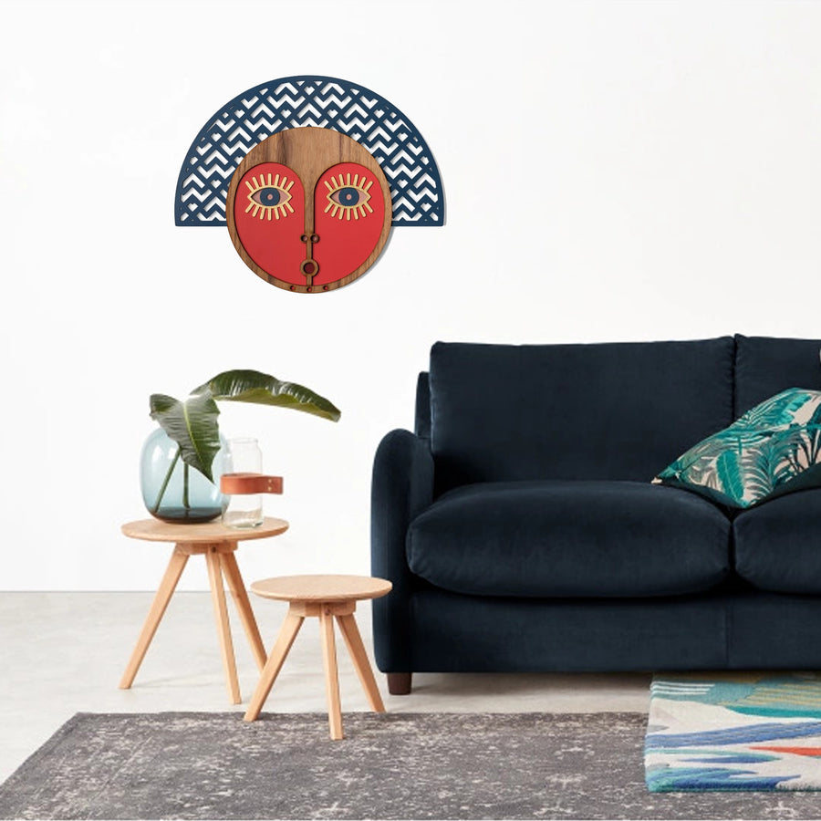 Modern Wall Decor with African Wall Mask