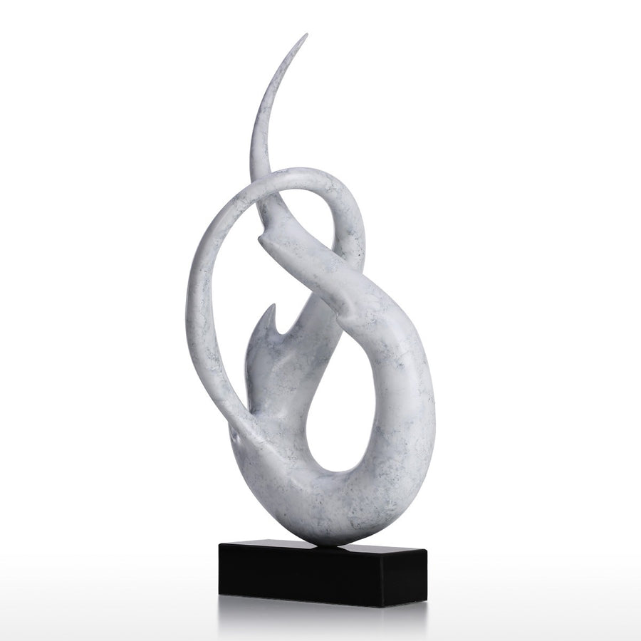 Modern White Sculpture