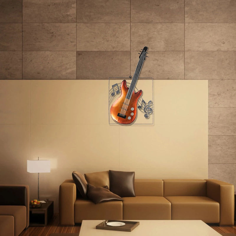 Musical Instrument Wall Art with Guitar