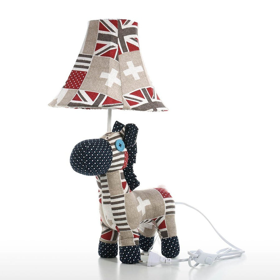 Nursery Lamp as Bedside and Nightstand with Horse