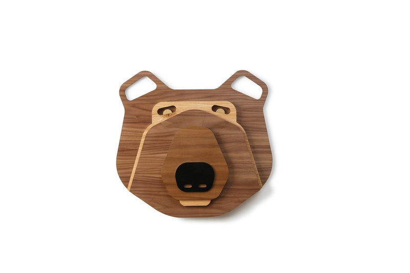 Nursery Wall Art with Wooden Bear Wall Decor