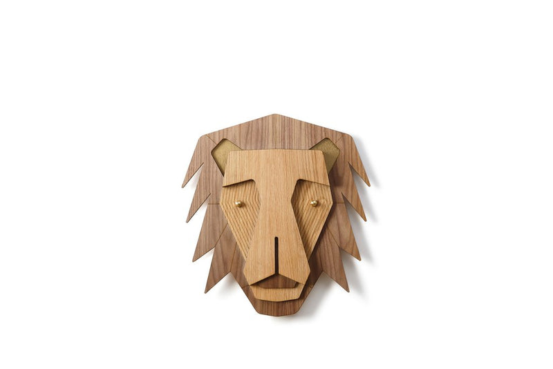 Nursery Wall Art with Wooden Lion Wall Decor
