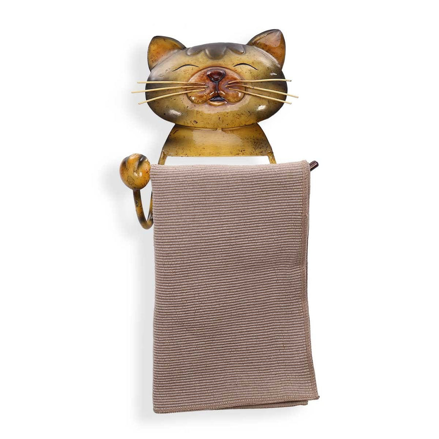 Paper Towel Holder with Curious Cat and Cute Cat for Bathroom, Kitchen