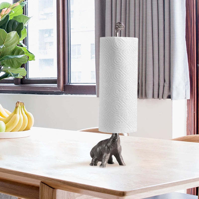 Paper Towel Holder with Dinosaur