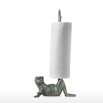 Paper Towel Holder with Frog Free Standing For Kitchen and Desk