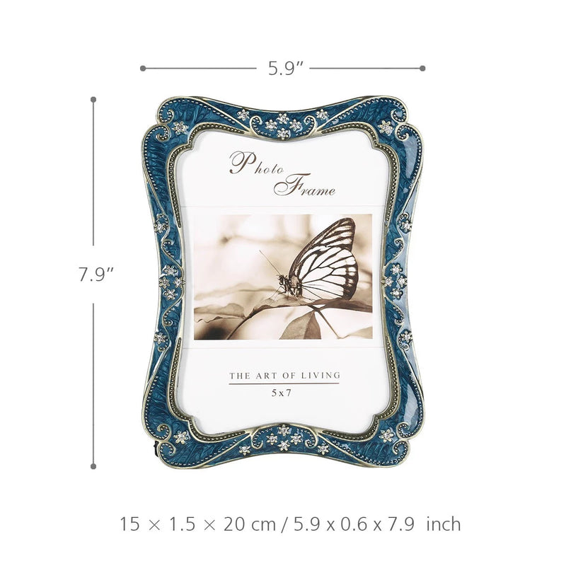 Photo and Picture Frame with Blue Color