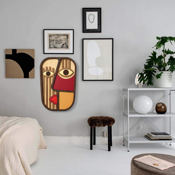 Picasso Faces with Decorative Wall Hanging
