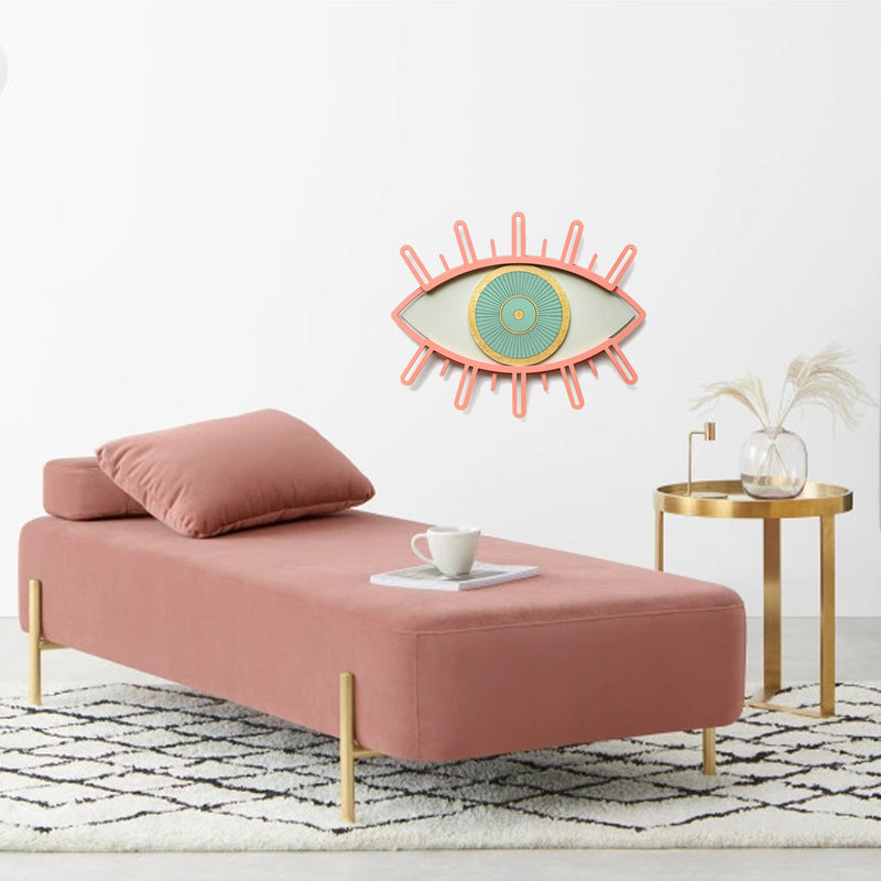 Pink Eye and Eyelash Wall Art by Wood