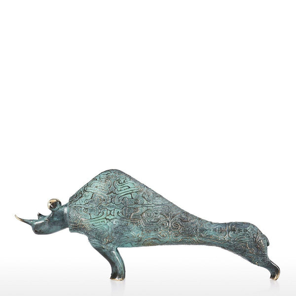 Rhinoceros with Sculpture and Statue Bronze Material for Home Decor and Unique Gifts Animal Lovers