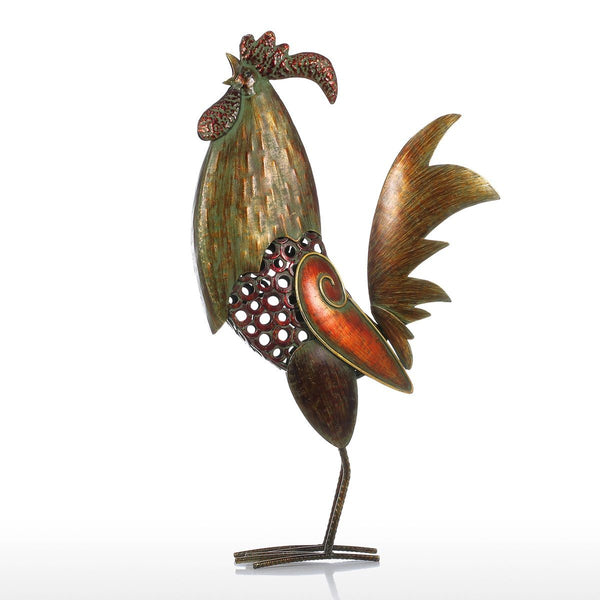 Rooster Decor and Rooster Kitchen Decor with Rustic Christmas Decor for Outdoor Christmas Decorations