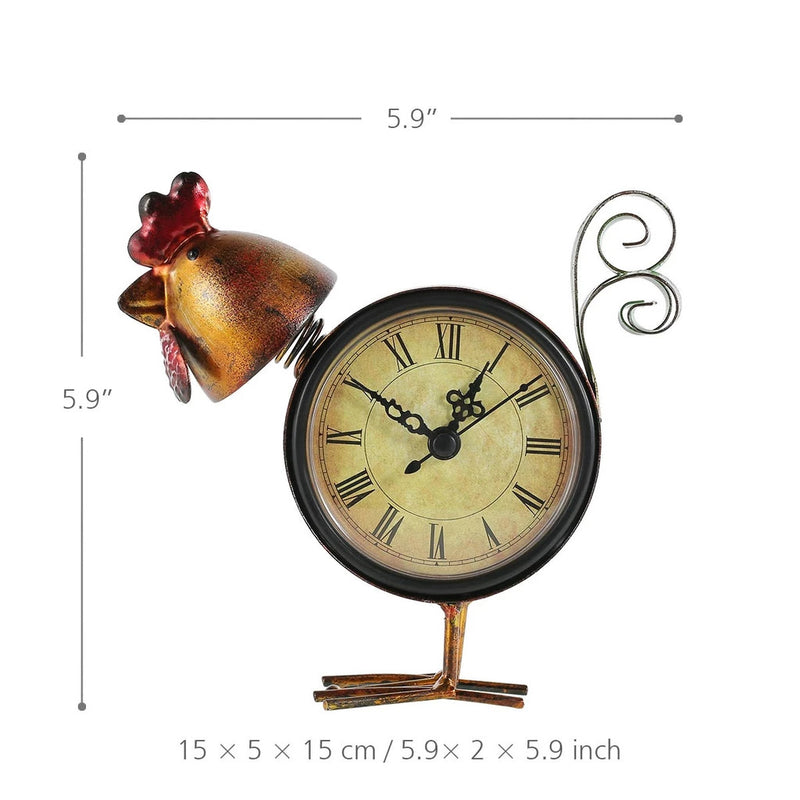 Rooster Decor with Clock