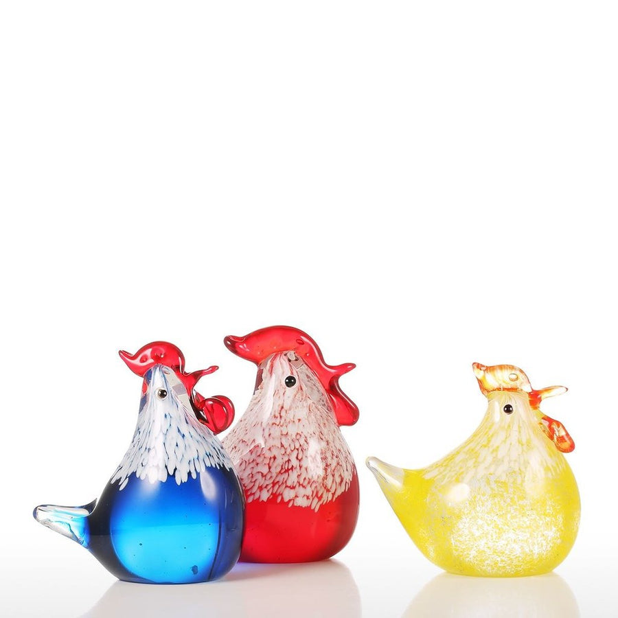 Rooster Decor with Glass Ornaments