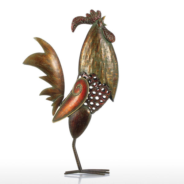 Rooster Kitchen Decor or Rooster Decor with Rustic Christmas Ornaments for Outdoor Christmas Decorations
