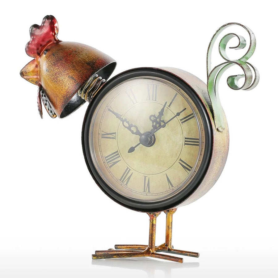 Rooster Kitchen Decor with Clock