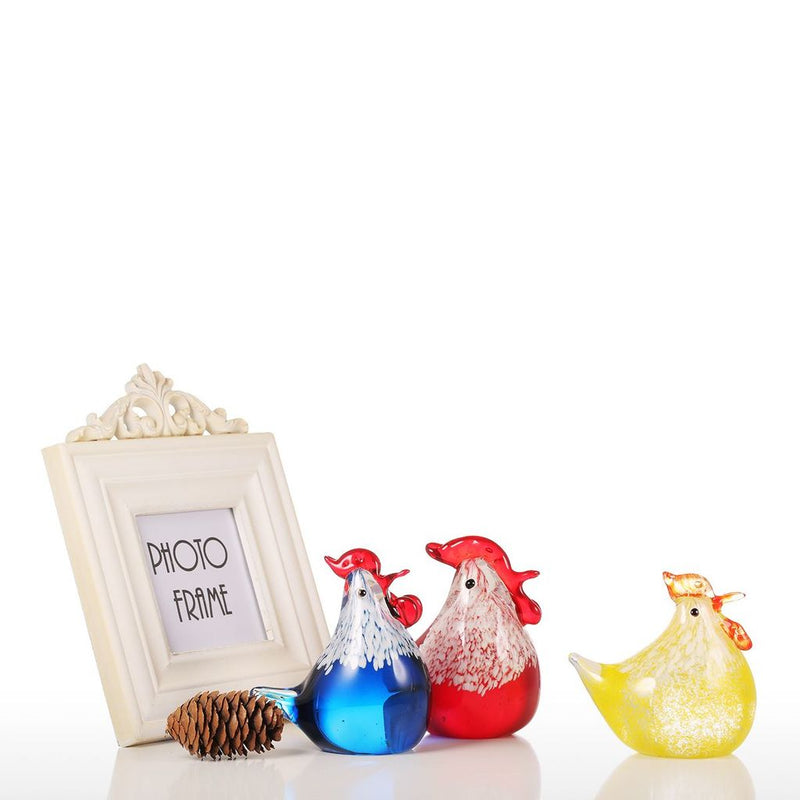 Rooster Kitchen Decor with Glass Ornaments
