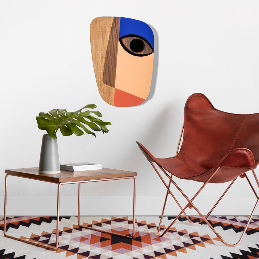 Rose Gold Picasso Face For Wall Art