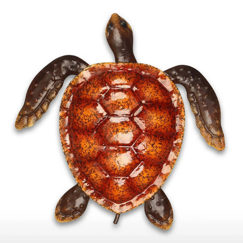 Cute and Baby Sea Turtle Wall Art Decor by Metal Ocean Figurines