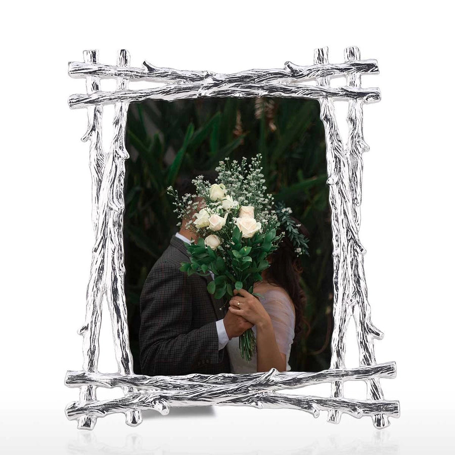 Silver Photo Frame 5X7 to Horizontal and Vertical Use