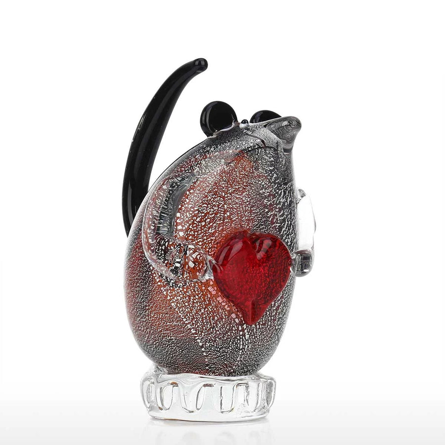 This cute Glass Sculpture Mouse inspires your Love and Gift choices