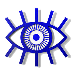 Turkish Nazar or Evil Eye Wall Hanging on the Wooden
