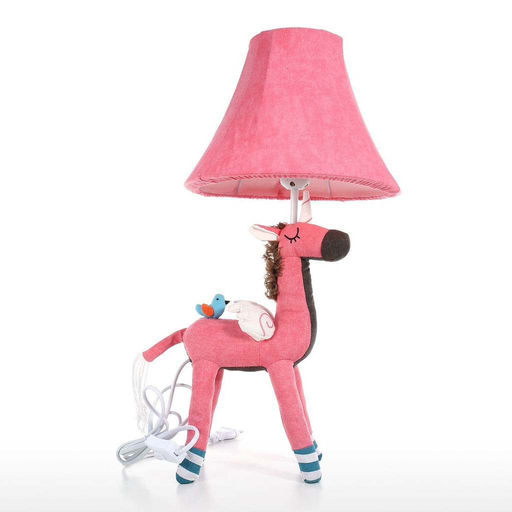 Unicorn Pink Table Lamp and Desk Lamp with Cute Cartoon Animal Patchwork and Crochet Detail