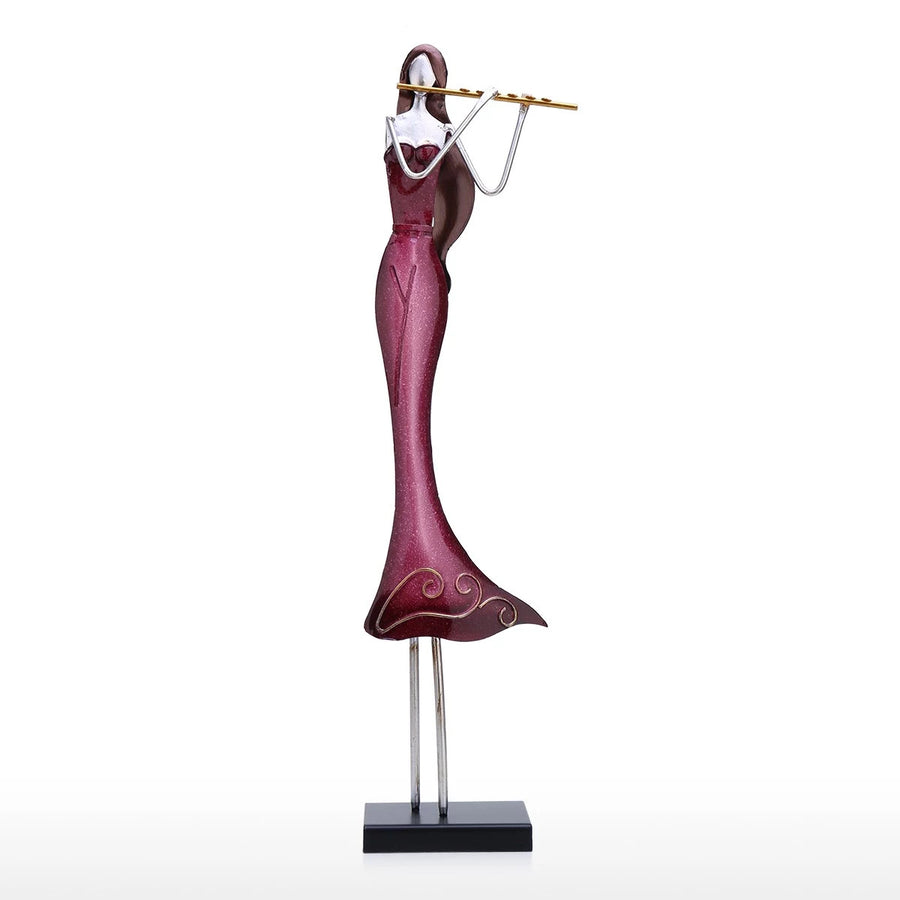 Unique Gifts For Flute Players and Flutist with Decorative Ornament Statue