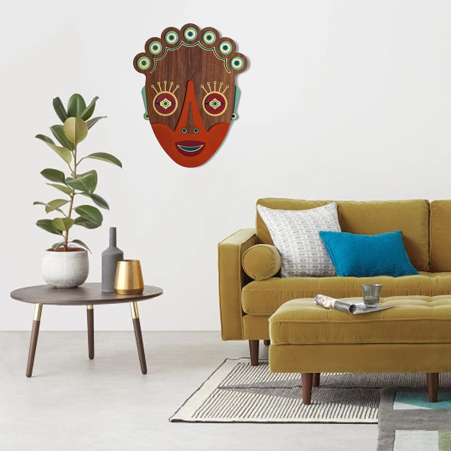 Wall Art Decor with African Wall Mask