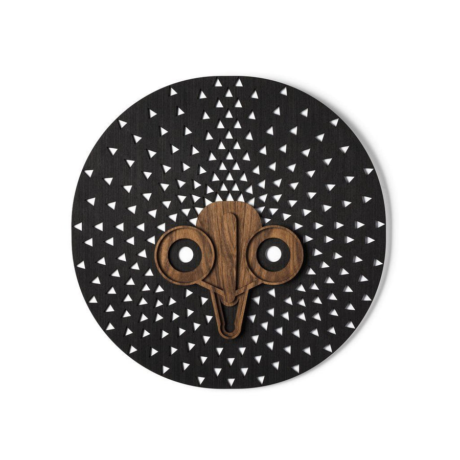 Wall Decor with Black Carved Round Modern Decorative Unique Abstract Wall Art for Kitchen, Hall, Office Bedroom or Living Room Wall Decor