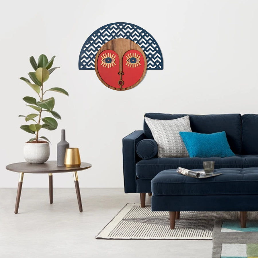 Wall Hanging with African Wall Mask