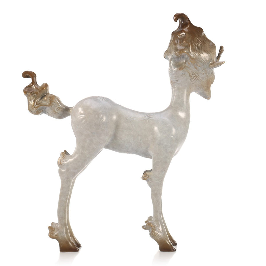 White Deer Christmas Decoration and Deer Home Decor