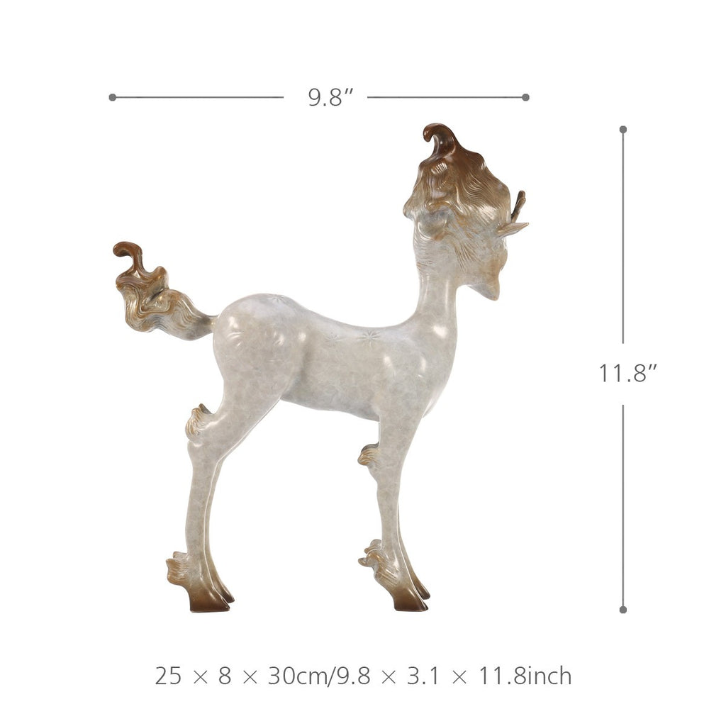 White Deer Decor and Christmas Deer Statues for Christmas Decorations