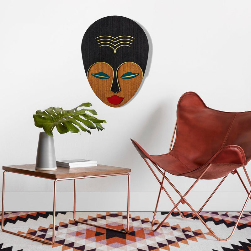 Afrocentric Woman African Wall Art and Boho Wall Decor on the Face
