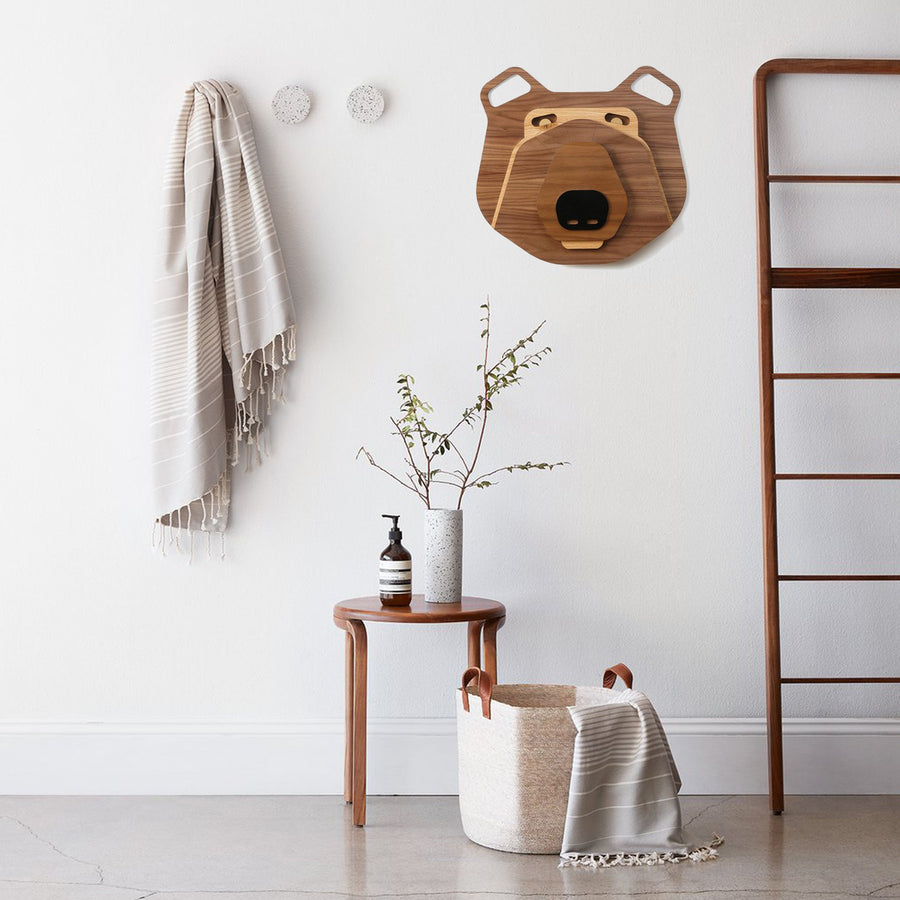 Wood Bear Wall Art in the Nursery Wall and Decor Baby Room Themed
