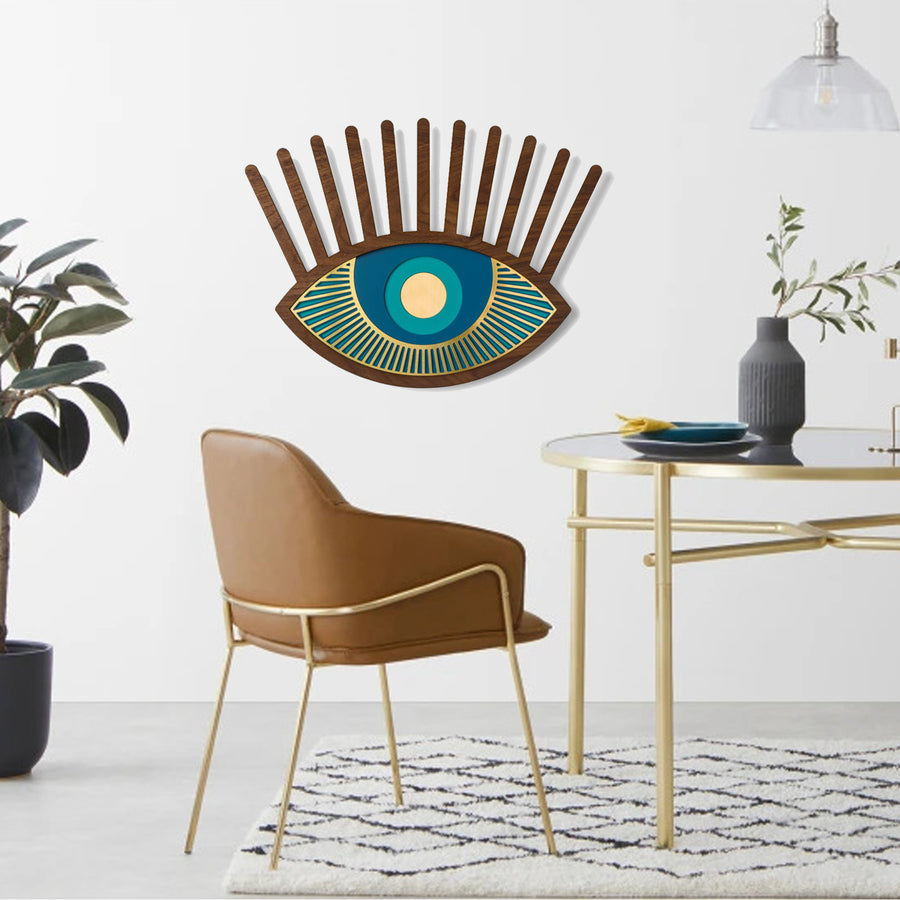 Wood Wall Art by Blue Eye and Eyelash Artwork