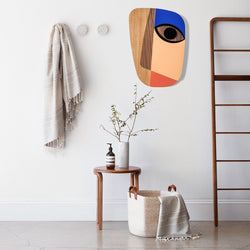 Wood Wall Art by Picasso Face