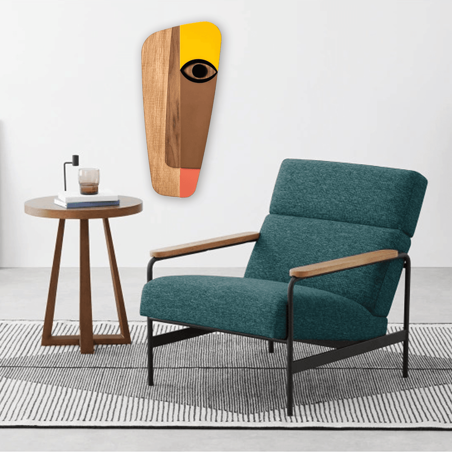 Wood Wall Art with Picasso Face Paintings