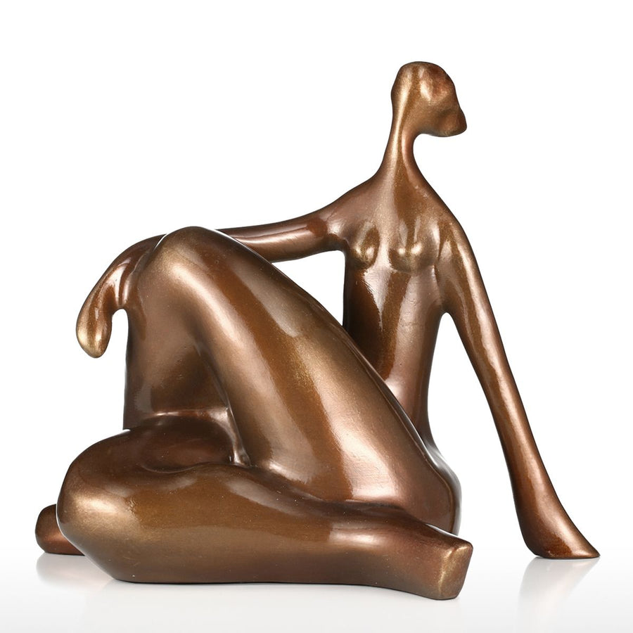 Plump Women Yoga Hunker Figurine - Sweet Home Make