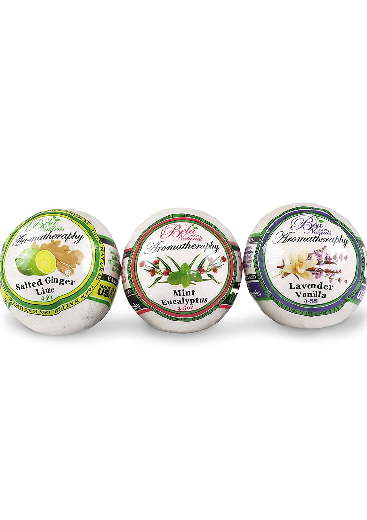 Bela 100% Natural Bath Bombs 3 Pack