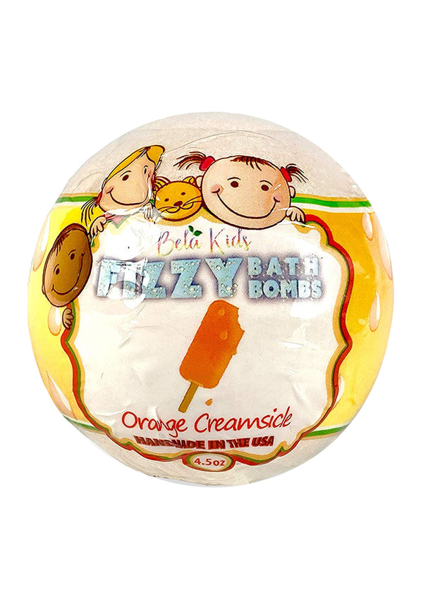 Bela Kids Fizzy Bath Bomb Orange Creamsicle 4.5 Oz