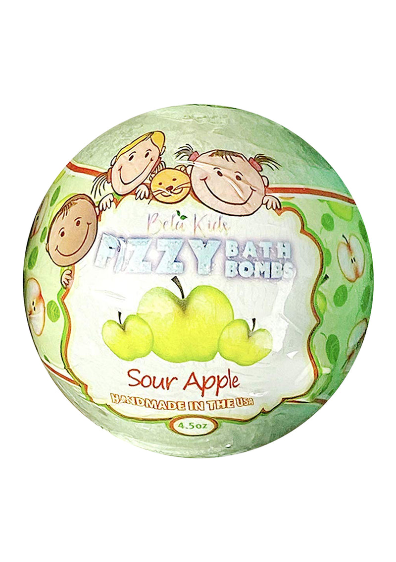 Bela Kids Fizzy Bath Bomb Sour Apple 4.5 Oz