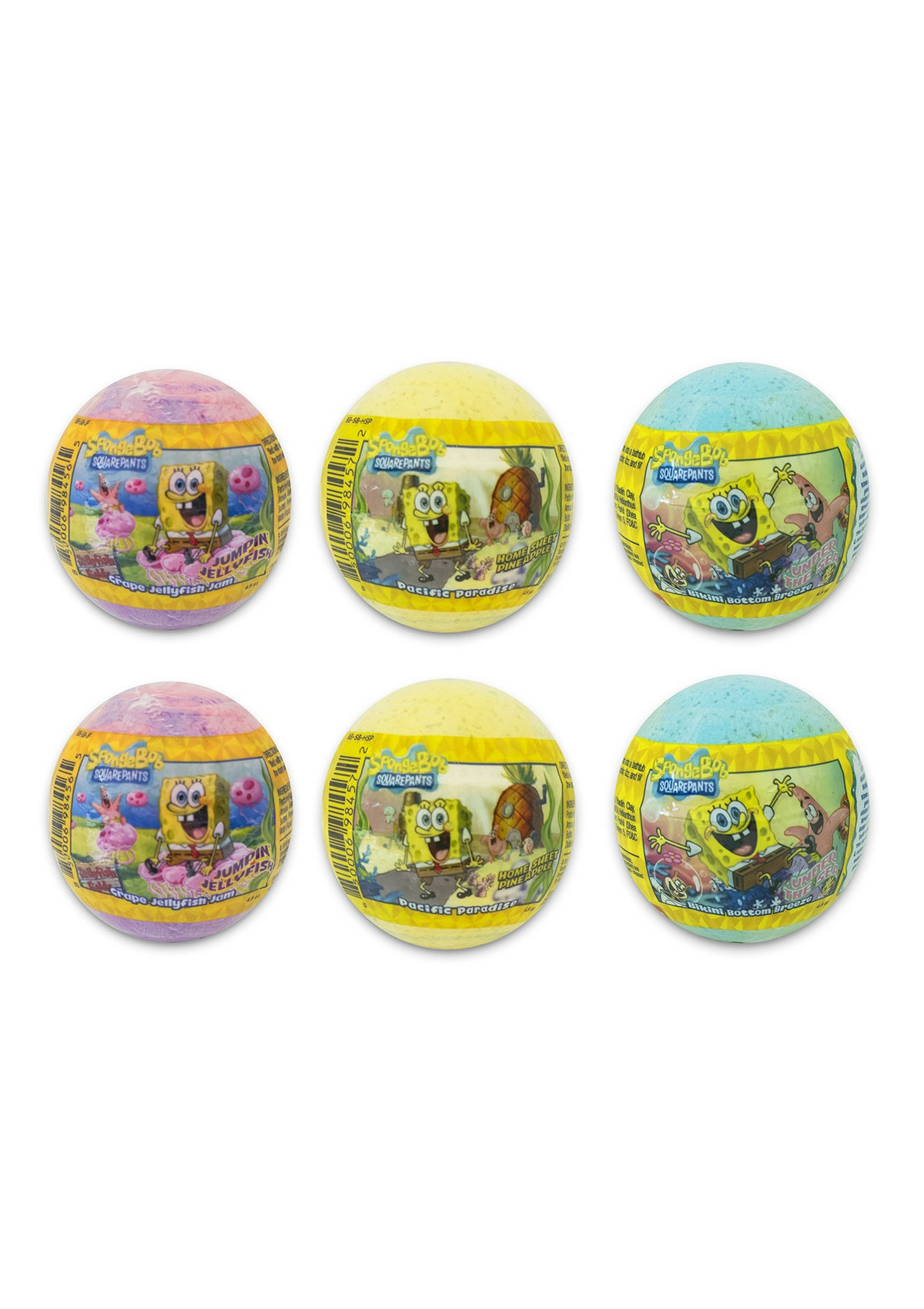 Nickelodeon SpongeBob Bath Bombs - 6 Pack
