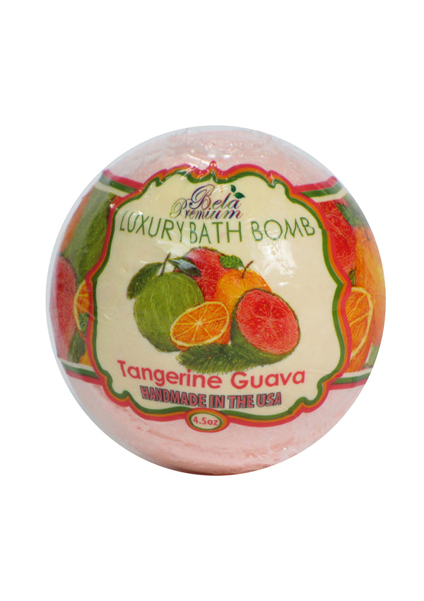 Bela Luxury Bath Bomb Tangerine Guava 4.5 Oz