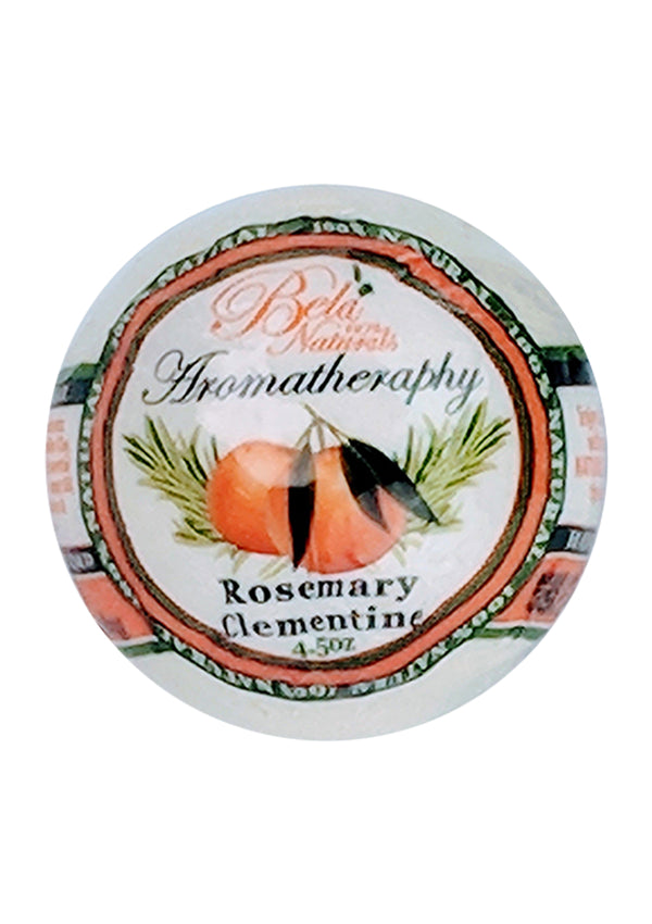 Bela 100% Natural Bath Bomb Rosemary Clementine 4.5 Oz