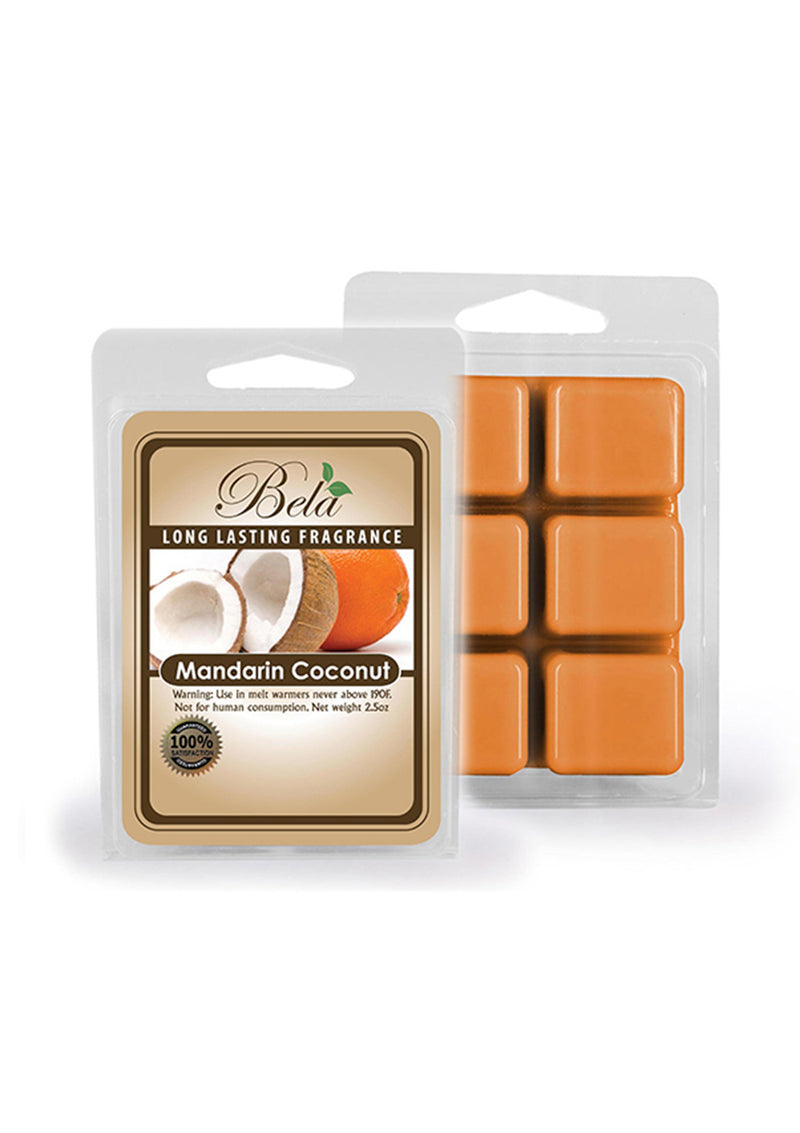 Bela Home Fragrance Mandarin Coconut Wax Melts 2.5 Oz